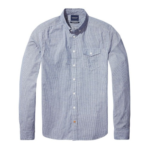 SCOTCH&SODA Lightweight brushed flannel shirt with workwear 137701.18