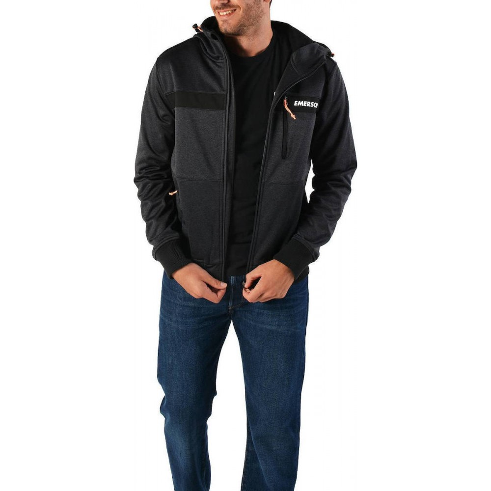 -35% Emerson Men s Jacket 182.EM11.34 GMD Black ΑΝΤΡΑΣ d638858ca5d