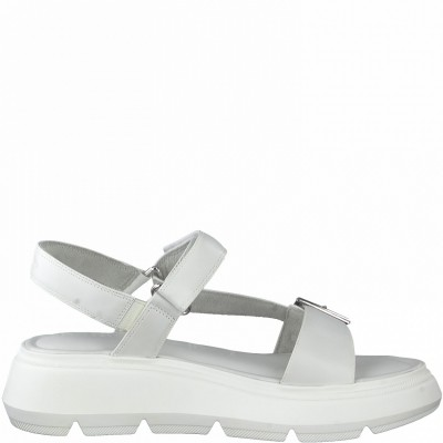 Tamaris 1-28274-36 100 white Sandals  ΓΥΝΑΙΚΑ