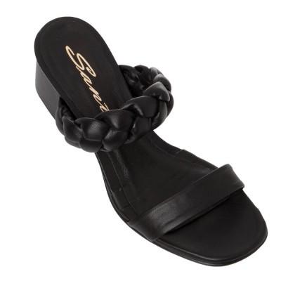 Sante Mules Sandals 21-211-01 Black ΓΥΝΑΙΚΑ
