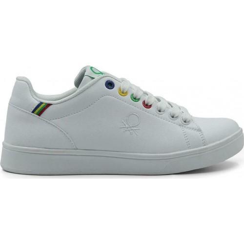Sneaker United Colors Of Benetton Penn Multirings BTW114001-1010 Λευκά