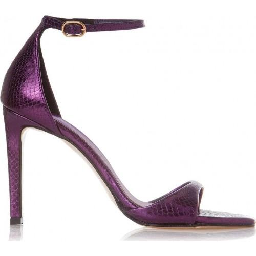 Γυναικείο Sante πέδιλο από συνθετικό μεταλλικό φίδι 21-558-02 Purple