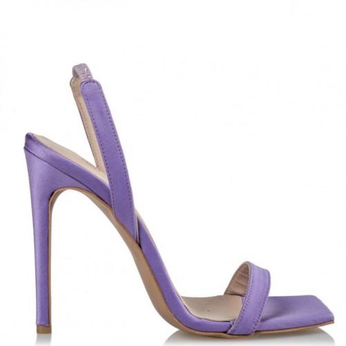Envie Shoes E02-13175-82 SATIN STILETTO SANDALS Lilac
