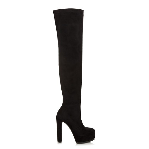 Sante Thigh High Boots 98391-01 Black