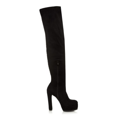 Sante Thigh High Boots 98391-01 Black Φθινόπωρο - Χειμώνας