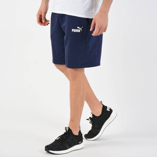 Men's Puma - Essentials Sweat Shorts in Blue | 851769-06