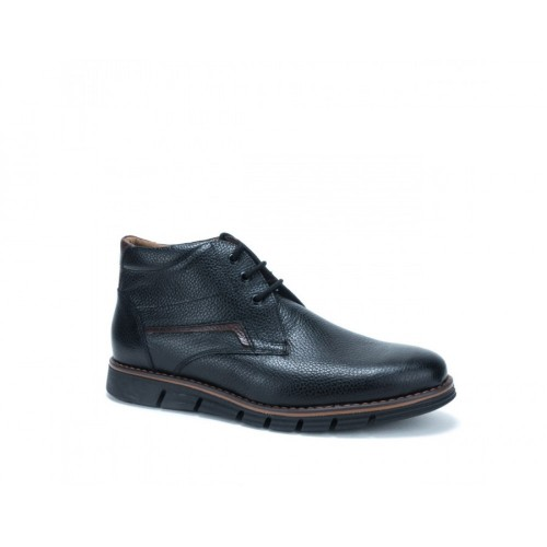 0c101f762fd Ανδρικά Δετά Casual Μποτάκια Antonio 158 Leather Black ΑΝΤΡΑΣ