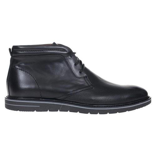 Ανδρικά Δετά Casual Μποτάκια Damiani 696 Leather Black ΑΝΤΡΑΣ 32ff1d54efc