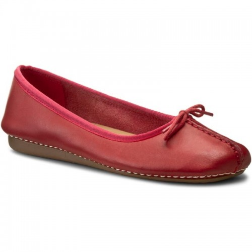 Flats CLARKS Freckle Ice 20352933 Red Leather