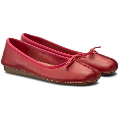 Flats CLARKS Freckle Ice 20352933 Red Leather ΓΥΝΑΙΚΑ