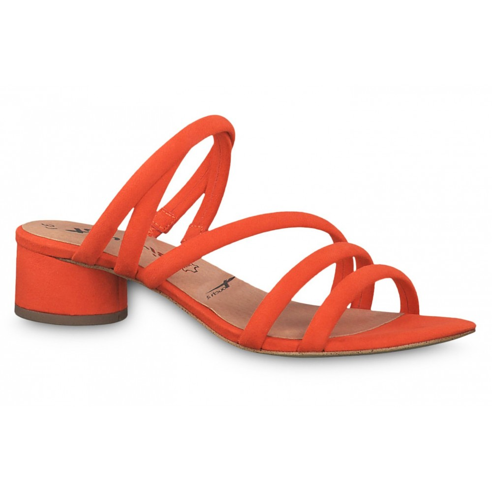 6171c1aac3 Tamaris 1-27237-32 606 Orange Γυναικείες Παντόφλες ΓΥΝΑΙΚΑ