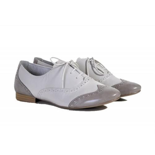 Tamaris 1-23206-24 128 Off White-Stone Oxfords